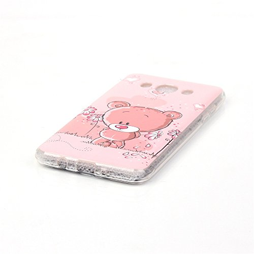 Qiaogle Téléphone Coque - Soft TPU Silicone Housse Coque Etui Case Cover pour Apple iPhone 5C (4.0 Pouce) - YH30 / Mignon chat sac dos YH23 / Pink Ours