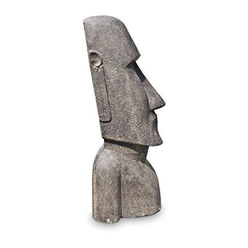 Oriental Galerie Osterinsel Moai Figur Skulptur Stein Lavasand Bali Tiki Garten Hawaii Deko 120cm