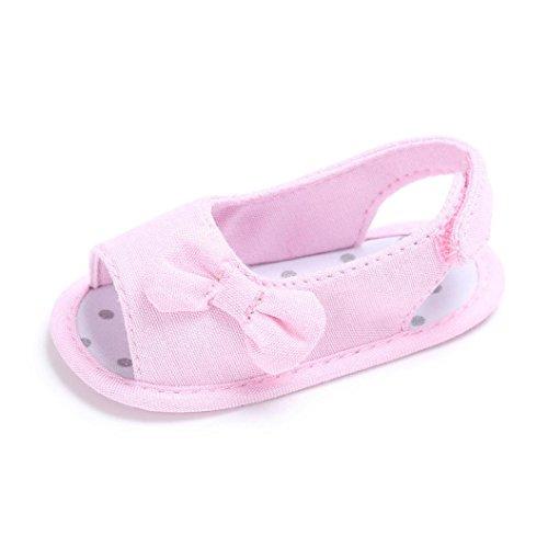 FNKDOR Baby Tuch Schuhe Mädchen Klettverschluss Weiches Sohle Kleinkind Schuhe für 0-18 Monate (6-12 Monate, Pink)