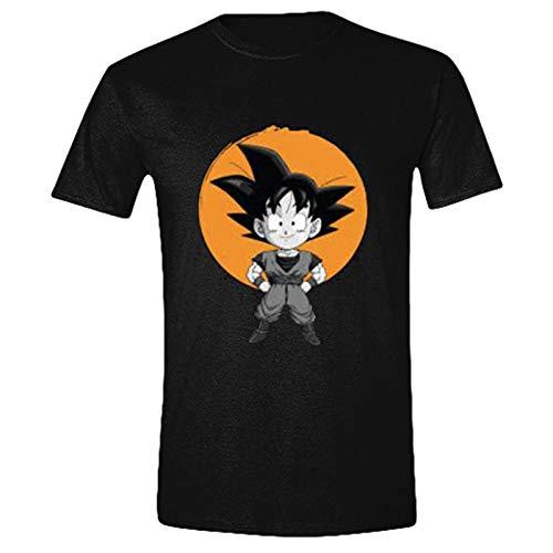 T-Shirt Kid Goku Baumwolle schwarz - L ()