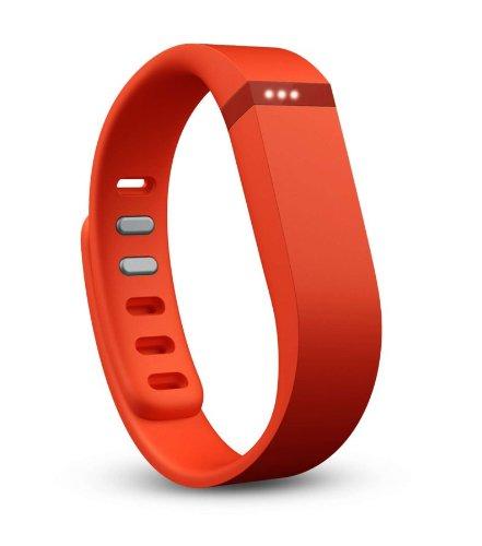 Imagen de fitbit flex  pulsera de actividad y sueño inalámbrica unisex con indicador led y podómetro , color mandarina, talla s / l