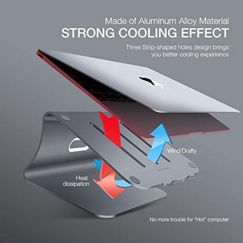 comprare on line Bestand Supporto per Computer Portatile/Laptop/MacBook Pro/Macbook Air Unibody, Grigio(Brevettato) prezzo