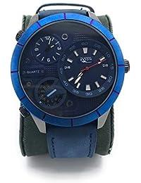 26a31b037587 Avion Militar Reloj Aviador Acciaio Reloj de Pulsera para Hombre de Cuarzo  con Esfera Grande y Caja de Acero Inoxidable Correa de Piel…