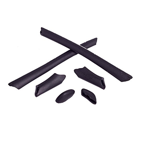 Walleva Ohrenschützer und Nasenpolster für Oakley Half Jacket/Half Jacket XLJ (Schwarz)