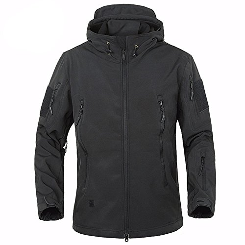 BELLOO Men Combat Jacket Waterproof Softshell Jackets with Hood, 5 Colors S-3XL Test