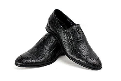 Hommes Élégant Robe Chaussures Habillées À Enfiler Mode Office Créateur Décontracté tailles - neuf Noir