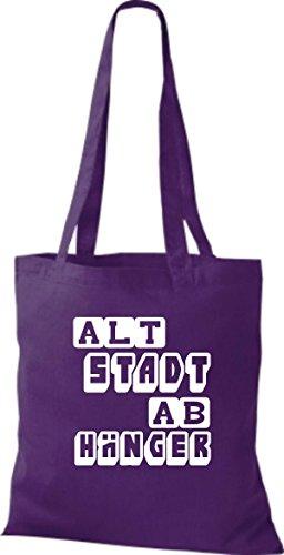 Tote Bag Shirtstown Funny Dice Vecchia Città Gancio Molti Colori Viola