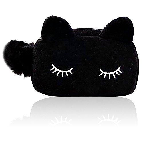 Vococal® Chat Style Zipper Voyage Multifonctionnel Portable Sac à Main Sac Voyage Cosmétiques Maquillage Coin Affaire Sac Toilette Sac de Rangement