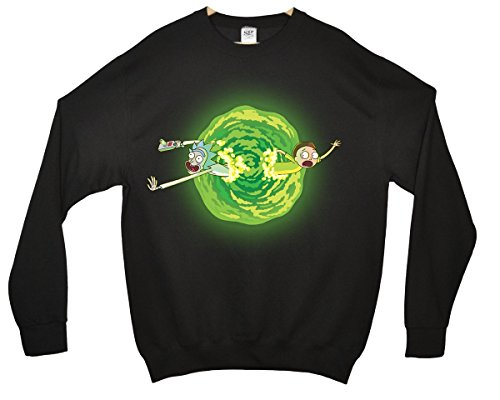 Rick and Morty - Portal Sweatshirt - Schwarz - 12/13 Jahre - Swim Adult Shirt