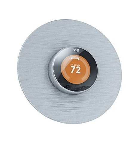 Beautiful Round 6 Wall Plate Cover for all 2nd and 3rd Generation Nest Thermostat by Wasserstein