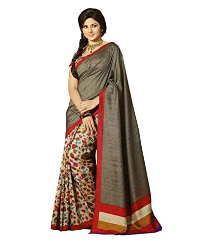 Glory Sarees Silk Saree (Kalapi27_Gery And Beige)