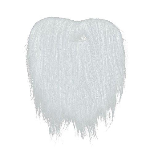 SpringPear® Weiß Fälschen Schnurrbart Gefälschter Bart Falsch Fake für Erwachsene Halloween Karneval Fasching Kostüm Verkleidung Dekoration Party (Bart Weißen Fake)