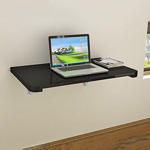 Massivholz-Wandbehang Computer-Tabellen-faltende An Der Wand Befestigte Speisetische Schwarzes Eisen-Haltewinkel-Schreibtisch (größe : 120*40cm)