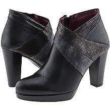 Zapatos abotinados en piel con plataforma