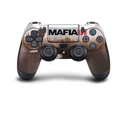 PS4 DualShock Wireless Controller Pro Konsole - Neueste PlayStation4 Controller mit weichem Griff und exklusiver individueller Version Skin (PS4-Mafia III) (3 Benutzerdefinierte Konsole Playstation)