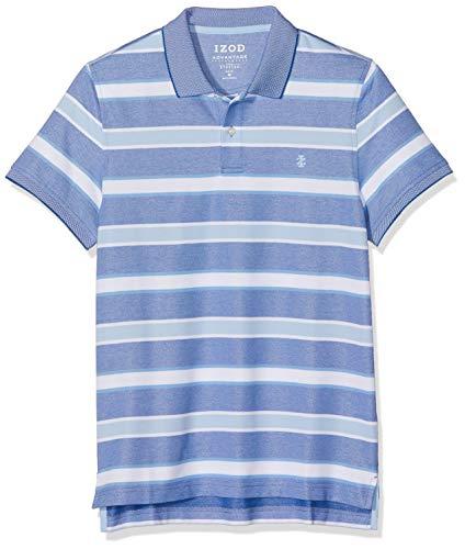 Izod Herren Performance Multi Stripe Polo Poloshirt, Blau (True Blue 426), X-Large (Herstellergröße: XL) - Heritage Rugby Shirt