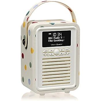 VQ Retro Mini DAB & DAB+ Digital Radio with FM, Bluetooth & Alarm Clock – Emma Bridgewater Polka Dot