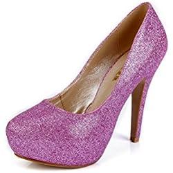 SEXYHER Elegant Damen 4,7 Zoll High Heel-Schuhe Hochzeit- SHOMQ6688-90