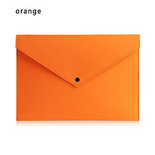 KBWL Coloré Simple Grand Capacité Document Pad pad Porte-documents D'affaires Dossiers Dossier Chimique Produits De Classement En Feutre De Stockage Sac De Rangement orange