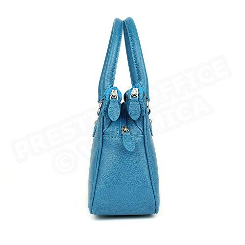 Mini sac Monaco cuir Fabrication Luxe Française Bleu Turquoise