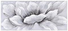 Idea Regalo - Home Selections bianco fiore dipinto a mano da parete 3D tela. Grande moderno quadro su tela, tela pronta da appendere.