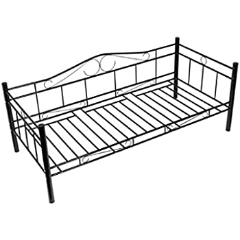 moebel direkt online day bed einzelbett metallbett schwarz k che haushalt. Black Bedroom Furniture Sets. Home Design Ideas