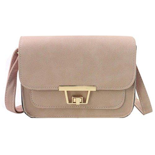 BZLine® Frauen Schulter Tasche Tote Damen Handtasche Small Square Taschen, 20cm*8cm*15cm Pink