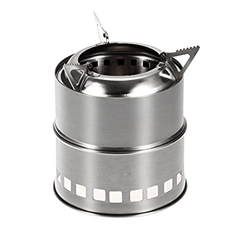 Outdoor portable wood stove stainless steel camping stove head outdoor firewood stove