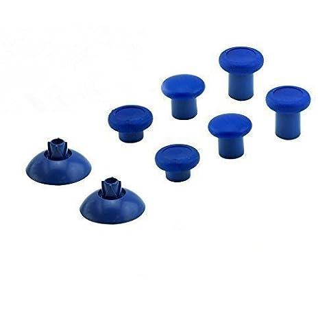 Canamite® Thumbstick Analogsticks Knöpf Button Set Ersatzteile für PS4/ Xbox One Elite 3,5mm Wireless Controller (Blau)