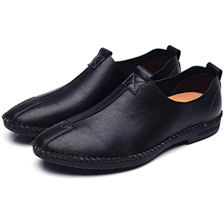 Qiusa Qiusa Qiusa Mocassins pour Hommes Semelle Souple en Cuir véritable Respirant antidérapant Chaussures de Pont Occasionnels... - B07JVMDG2D - 4c8842