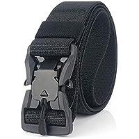 Desconocido JIER Liquidación Cinturón Táctico con Hebilla Cobra de Liberación Rápida, Cinturón de Nylon para Hombres Hebilla de Metal Estilo Militar Servicio Pesado