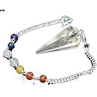 Dowser - Clear Quartz With Seven Chakra Chain Gemstone Pendulum Chakra Balancing & Reiki Healing Dowser Crystal... preisvergleich bei billige-tabletten.eu