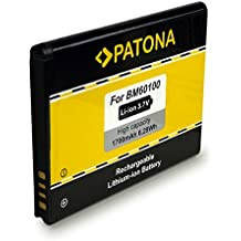 PATONA Batería BA-S890   BM60100 para HTC One SV   Desire 500 [ Li-Ion, 1700mAh, 3.7 V ]