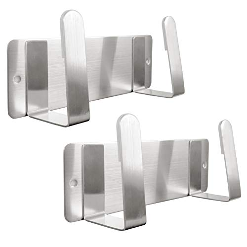 Youda Topfdeckelhalter, An der Wand befestigte 304 Edelstahl-Wannen-Deckel-Organisator-Halter, 3M selbstklebend, Küchen-Kochgerät-Werkzeug (2 Packs)