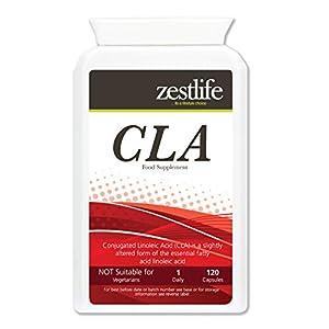 41dFaYwnZiL. SS300  - Zestlife CLA Conjugated Linoleic Acid 1000mg - 120 Soft gels