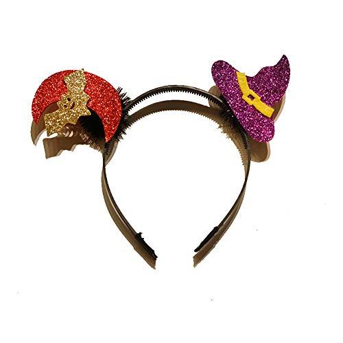Quaan Halloween Stirnband Kürbis Kopfbedeckungen Stirnband Haar Zubehörteil zum Halloween Atmosphäre Tasche Geschenk Stirnband Geist Festival KTV Bar Party Festival Dekorationen