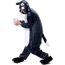 Misslight Unicornio Pijamas Animal Ropa de dormir Cosplay Disfraces Kigurumi Pijamas para Adulto Niños Juguetes y Juegos (S, Lobo)