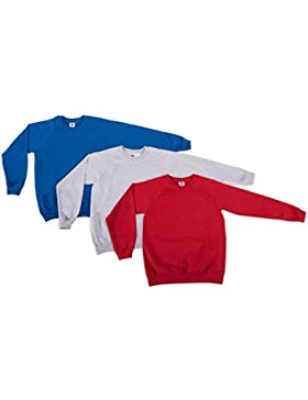 Fruit of the Loom Sudadera con Capucha para Niños (Pack de 3)