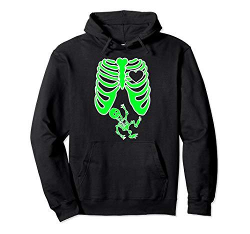 Kostüm Familien Baby Mit Lustige - Schwangere Röntgen-Skelett Baby Kostüm Mutter Halloween Pullover Hoodie