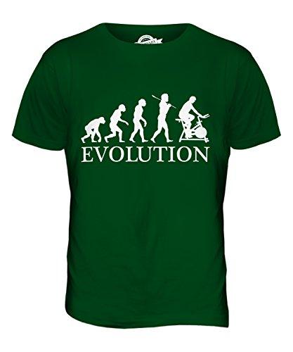CandyMix Fahrradergometer Evolution Des Menschen Herren T Shirt Flaschengrün