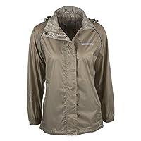 Mountain Warehouse Pakka Womens Waterproof Packable Jacket - Foldaway Hood Jacket, High Vis Ladies Autumn Coat, Lightweight Rain Jacket -for Cycling, Walking, Travelling