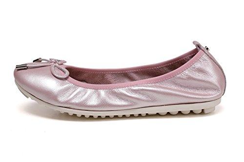 OZZEG Slip féminines On souple pliable Ballet frottée Flats chaussures mocassins en cuir véritable Rose