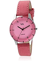 Watch Me Pink Dial Pink Leather Strap Watch For Girls WMAL-243 WMAL-243omt