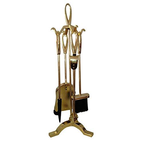 Set 4 accessori attrezzi per camino caminetto H63 cm fuoco stufa legna 095002 - Stufa A Legna Tool Set