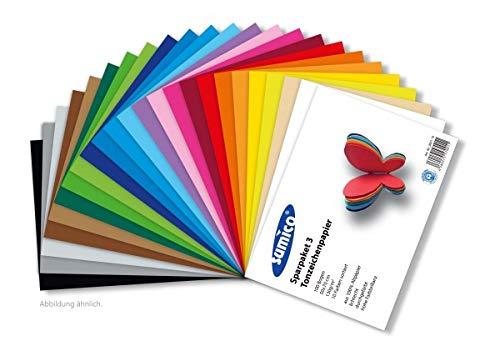 Sparset 2 - SUMICO® Tonzeichenpapier 130g/qm, 50x70 cm, 100 Bogen, 10 verschiedene Farben, Tonpapier zum Malen und Basteln, z.B. von Osterschmuck, für Glückwunschkarten, u.v.m. (Tonpapier Aus Halloween-basteln)