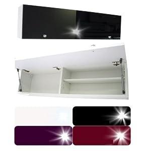 RODRIGO PlatanRoom Badschrank weiß schwarz 80 x 30 x 25 cm breit Badmöbel Badezimmer Hängeschrank Schrank Hänger…