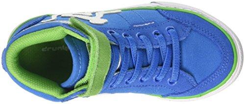 DrunknMunky Boston Classic, Chaussures de Tennis garçon Blu (Royal/Green)