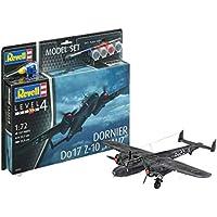 Revell–Model Set Dornier Do17 Z-10 Kauz, en Kit Modelo con Base Accesorios, fácil Pegar y para pintarlas, Escala 1: 72 (63933)