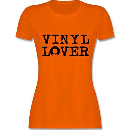 DJ - Discjockey - Vinyl Lover - tailliertes Premium T-Shirt mit Rundhalsausschnitt für Damen Orange