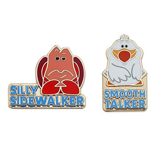 Disney Sebastian und Scuttle Pin Set - Die kleine Meerjungfrau ohne Farbe (Disney Set Pin)